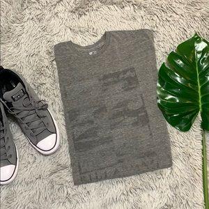 🎄billabong men's grey recycled tee size xl